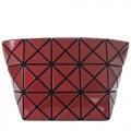 ISSEY MIYAKE 三宅一生 BAOBAO CARTON 3x5金屬幾何菱格亮面化妝包(紅色)