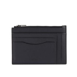 COACH 皮革零錢包/卡夾(深藍色) F66550 QBBHP