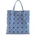 ISSEY MIYAKE 三宅一生 BAOBAO 幾何方格亮面6x6手提肩背包(灰藍)