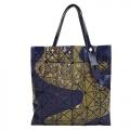 ISSEY MIYAKE三宅一生BAOBAO幾何亮面6x6傳統繪畫手提包(海軍藍)