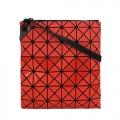 ISSEY MIYAKE三宅一生BAOBAO幾何6x6亮霧面雙質感拼色扁斜背包(紅)