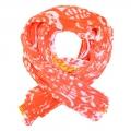 ISSEY MIYAKE 三宅一生 PLEATS PLEASE 花朵罩衫/圍巾(珊瑚橘紅)
