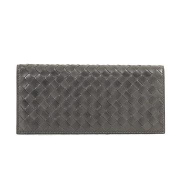 BOTTEGA VENETA 經典編織對折長夾(灰色)