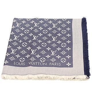 LV M71376 Monogram DENIM 披巾-藍色