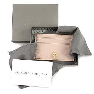 ALEXANDER MCQUEEN MCQ Skull 真皮卡片夾 粉紅色