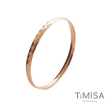 TiMISA《格緻真愛-細版(玫瑰金)》純鈦手環
