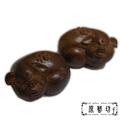 【原藝坊】石頭沉開運豬擺飾(一對)