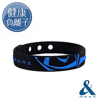 &MORE愛迪莫 KADORI高濃度負離子運動手環(耀眼藍)
