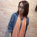 Lus.G 南法鄉村少女格紋麻紗圍巾-共3色