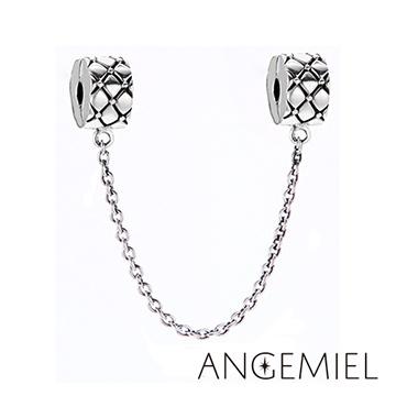 義大利Angemiel安婕米 925純銀珠飾 經典 夾扣安全鍊