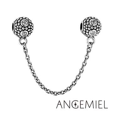 Angemiel安婕米 925純銀珠飾 戀情(白) 夾扣安全鍊