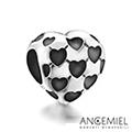 義大利Angemiel安婕米 925純銀珠飾 銘心 串珠