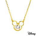 Disney迪士尼金飾 快樂米奇黃金項鍊