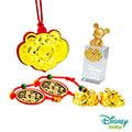 Disney迪士尼系列金飾 彌月金飾印章套組木盒-富貴米奇款 0.35錢