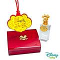 Disney迪士尼系列金飾 彌月金飾印章套組木盒-兩小無猜-美妮造型印章 0.15錢