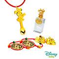 Disney迪士尼系列金飾 彌月金飾印章套組木盒-榜首美妮款-美妮造型印章 0.75錢