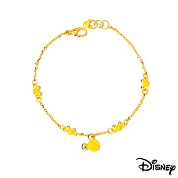 Disney迪士尼系列金飾 黃金手鍊-動感米奇款