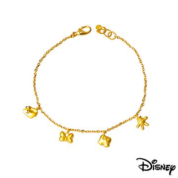 Disney迪士尼系列金飾 愛不釋手黃金手鍊