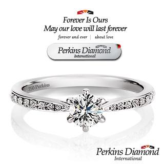 GIA PERKINS 伯金仕 夏綠蒂系列 0.30克拉鑽石戒指