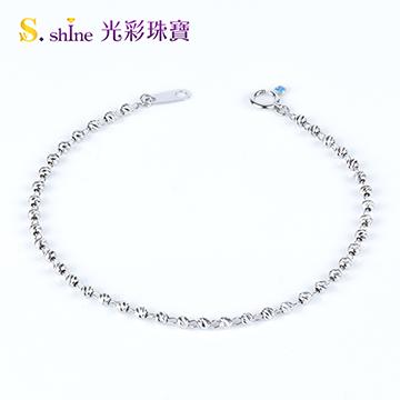 【光彩珠寶】日本鉑金手鍊 熠熠生輝