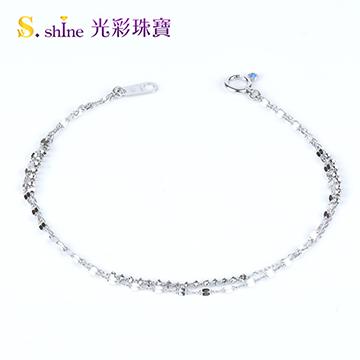 【光彩珠寶】日本鉑金手鍊 幸福軌跡