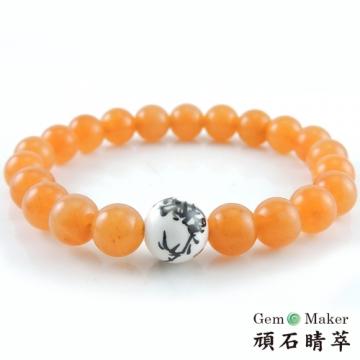 【GemMaker頑石睛萃】黃東菱手工彩繪陶瓷手珠