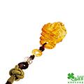幸運草 旺財貔貅黃金/琥珀/中國繩吊飾