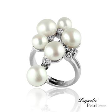 【大東山珠寶】 燦爛時光 晶鑽珍珠戒指 -經典白