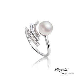 【大東山珠寶】燦爛流星雨 純銀晶鑽天然珍珠戒指(天然淡水珍珠)