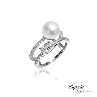 【大東山珠寶】 Yes I Do 純銀晶鑽天然珍珠戒指