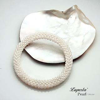 【大東山珠寶】雪白禮讚珍珠手環 歐美古典編織珠寶(天然淡水珍珠)