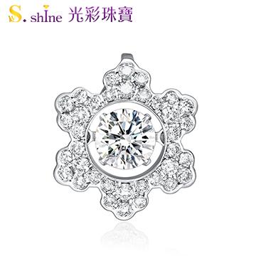 【光彩珠寶】日本舞動鑽石項鍊 冬季戀歌 GIA0.3克拉 F VS2