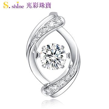 【光彩珠寶】日本舞動鑽石項鍊 浪漫蜜語 GIA0.3克拉 F VS2