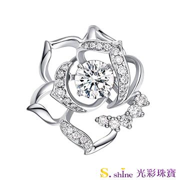 【光彩珠寶】GIA0.5克拉 日本舞動鑽石項鍊 花見幸福