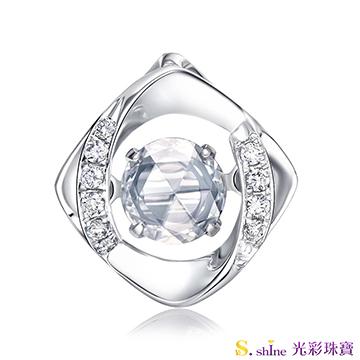 【光彩珠寶】GIA0.3克拉 日本舞動鑽石項鍊 忠於愛情
