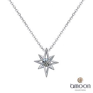 amoon 永恆回憶系列 耀眼 鉑金鑽石墜子 送項鍊