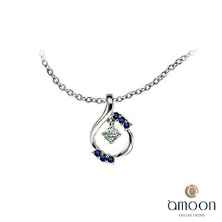 amoon 璀璨星空系列 繁星之戀 K金鑽石墜子 送項鍊