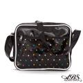 ABS愛貝斯 台灣製造 經典格紋小型側背包(黑底星)06-071