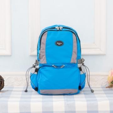 【Roberta諾貝達】隨身小背包 安心背開拉鍊 輕量防潑水(R701-水藍色)