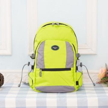 【Roberta諾貝達】隨身小背包 安心背開拉鍊 輕量防潑水(R702-螢光綠)