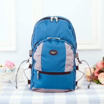 【Roberta諾貝達】隨身小背包 安心背開拉鍊 輕量防潑水(R702-新藍色)