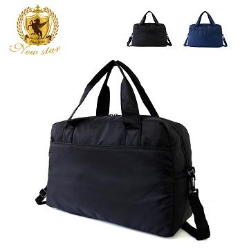 肩背包 日系極簡超大容量口袋旅行袋(可掛旅行箱) NEW STAR BB38