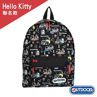 【OUTDOOR】Hello Kitty聯名款後背包 ODKSR1056BK