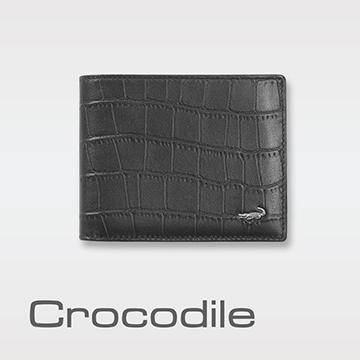 Crocodile 經典鱷魚壓紋短夾   0103-4002