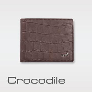 Crocodile 經典鱷魚壓紋短夾   0103-4003