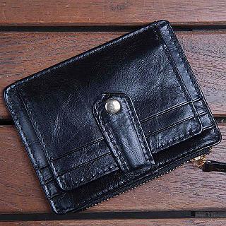 【H-CT】多功能名片卡夾零錢包/黑(A132-2338B)