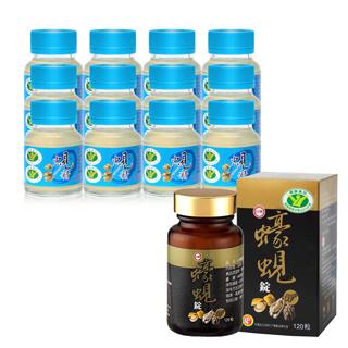台糖 護肝雙效組(原味蜆精x12瓶+蠔蜆錠x2瓶)