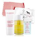 CLARINS 克蘭詩 身體調和護理油(100ml)贈美腿滋潤乳+竹子精華身體去角質霜+化妝包
