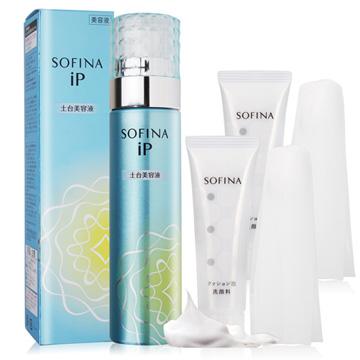 SOFINA 蘇菲娜 iP土台美容液(90g)+彈力泡泡潔顏乳(30g)X2