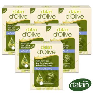 【土耳其dalan】頂級橄欖油深層保濕乳霜皂100g 6入組